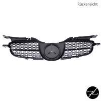 Kühlergrill Wabendesign Glanz Schwarz + Chromleiste passend für Mercedes SLK R170 98-04 im R171 Design