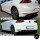 Diffusor Stoßstange Ansatz Schwarz Matt 2 Rohr Wabendesign passend für VW Golf 7 VII GTI GTD Umbau