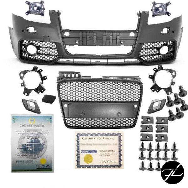 Stoßstange vorne + Kühlergrill + Nebelscheinwerfer passt für Audi A4 B7 ab 04-08