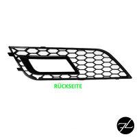 Stoßstange Grilleinsatz für Nebelscheinwerfer Schwarz Hochglanz passend Audi A4 B8 11-15 + RS4