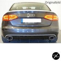 Heckdiffusor Duplex Schwarz Glanz Silber passt für Audi A4 B8 ab 07-11 kein RS4