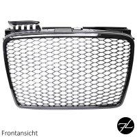 Wabendesign Kühlergrill Wabengrill Glanz passend für Audi A4 B7 04-08 nicht RS4