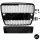 Kühlergrill Wabengrill Schwarz Hochglanz + Kennzeichenplatte passend für Audi A6 C6 Bj 04-09 RS6