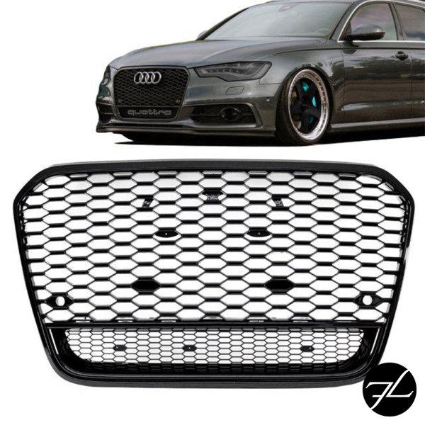 Sport Wabendesign Kühlergrill Hochglanz Schwarz passt für Audi A6 4G C7 bj 10-15 außer RS6 S6