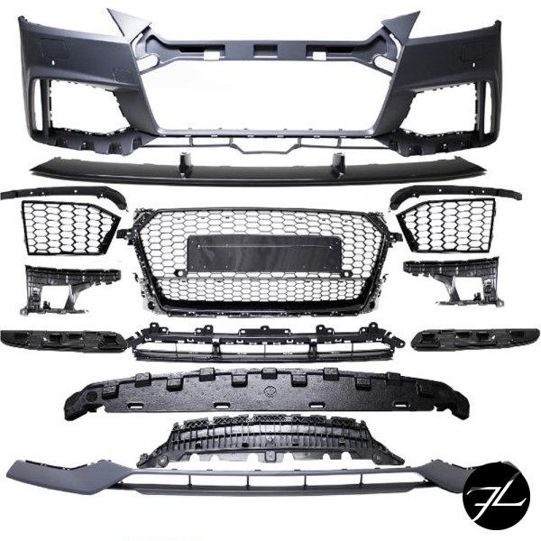 Stoßstange vorne für PDC + Wabengrill Schwarz passt für Audi TT 8S FV auch TT RS
