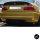 Heckdiffusor Ansatz Schwarz Matt Duplex passt für BMW 3er E46 Limousine Coupe Cabriolet Touring mit M-Paket CSL