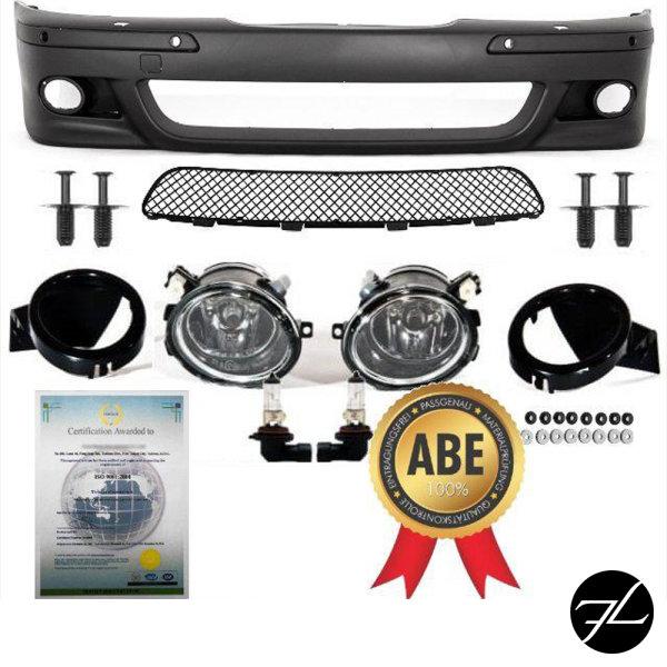 SPORT Stoßstange PAKET vorne ABS SRA/PDC passt für BMW E39 +Nebel für M+Nieten