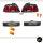 Rot Smoke LIMOUSINE Rückleuchten Set +2x Seitenblinker + Birnen passt für BMW 5er E39 95-00