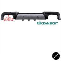 Umbau Heckdiffusor 4 Rohr Duplex Schwarz Matt passt für BMW 5er F10 F11 M-Paket außer M5