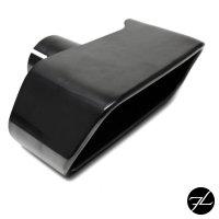 Schwarz Auspuffblenden SET eckig + Zubehör passend für BMW F10 F11 550 M-Paket