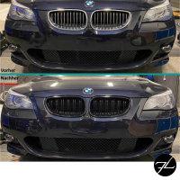 SET Kühlergrill Schwarz Hochglanz Doppelsteg passend für BMW 5er E60 E61 + M M5