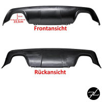 Heckdiffusor passt für BMW E60 E61 M Paket M5 4 Rohr Duplex 03-10 Schwarz Matt