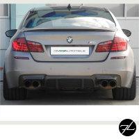 Umbau Performance Heckdiffusor 4 Rohr Schwarz Matt passt für BMW 5er F10 F11 M-Paket nicht M5
