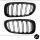 Doppelsteg Kühlergrill Schwarz GLANZ Performance passt für BMW 7er F01 F02 08-15