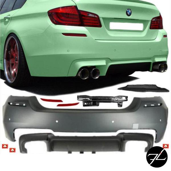 Sport Heck Stoßstange hinten 4-Rohr Diffusor für PDC passend für BMW 5er F10 nicht M5+Gutachten
