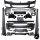 Sport Bodykit Stoßstange Vorne Seite Hinten passt für BMW G30 auch M-Paket 17-