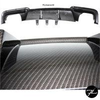 Diffusor Gold-Carbon Glanz 4-Rohr passend für BMW...