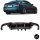 Diffusor Gold-Carbon Glanz 4-Rohr passend für BMW F10 F11 M5 Performance Umbau