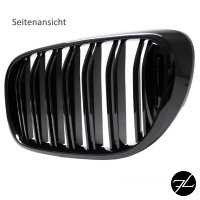 Doppelsteg Kühlergrill Schwarz GLANZ Performance passt für BMW 7er G11 G12 2014>