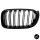 Set Doppelsteg Kühlergrill Front Grill schwarz Glanz lackiert passt für BMW X3 F25 X4 F26 bj 14-18