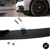 Sport-Performance Frontspoiler Schwarz Matt passend für BMW G30 G31 mit M-Paket
