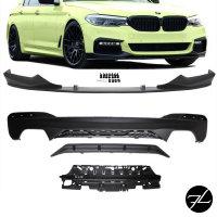 Sport-Performance Frontspoiler + Diffusor Schwarz passt für BMW G30 G31 M-Paket