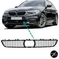 Stoßstangengitter Mitte Schwarz glanz passt für BMW G30 G31 mit ACC + M-Paket