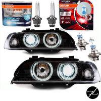 2x Angel Eyes Bi Xenon Scheinwerfer Set Schwarz D2S/H7+...