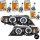 2x CCFL Angel Eyes Scheinwerfer Schwarz+PHILIPS PAKET passt für BMW E46 FACELIFT