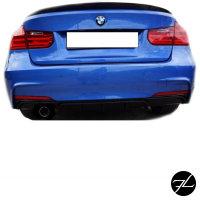 Heckdiffusor Sport-Performance Schwarz LACKIERT passend für BMW F30 F31 M-Paket
