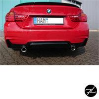 Diffusor Sport-PERFORMANCE Schwarz Glanz 435 passend für BMW F32 F33 F36 M-Paket