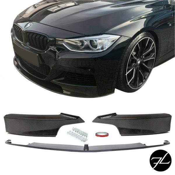 Frontspoiler Lippe Sport-Performance Carbon Glanz Look passend für BMW 3er F30 F31 mit M-Paket
