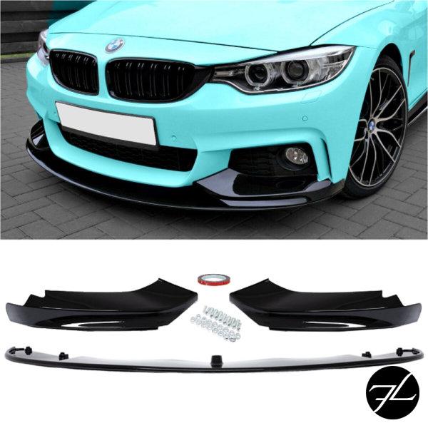 Frontspoiler Sport-Performance Glanz Schwarz passend für BMW F32 F33 F36 M-Paket