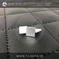 LED Orange-Amber auf Alu-Platine 10mm x 10mm vorgelötet