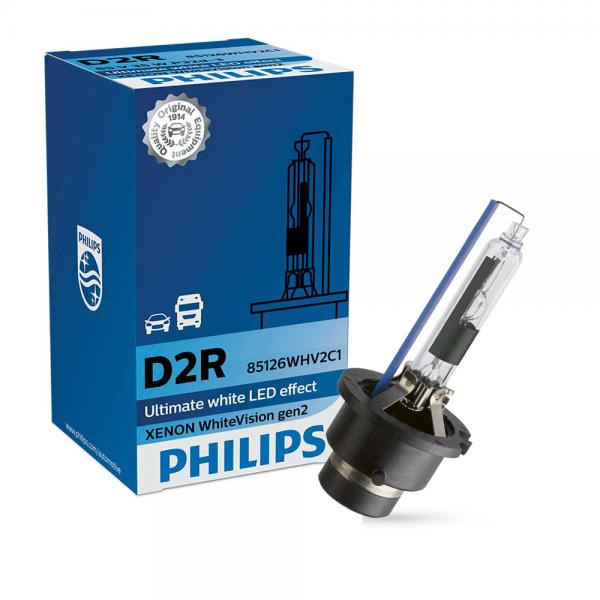 D2R 85V 35W P32d-3 WhiteVision Gen2  5000K Xenon 1st. Philips