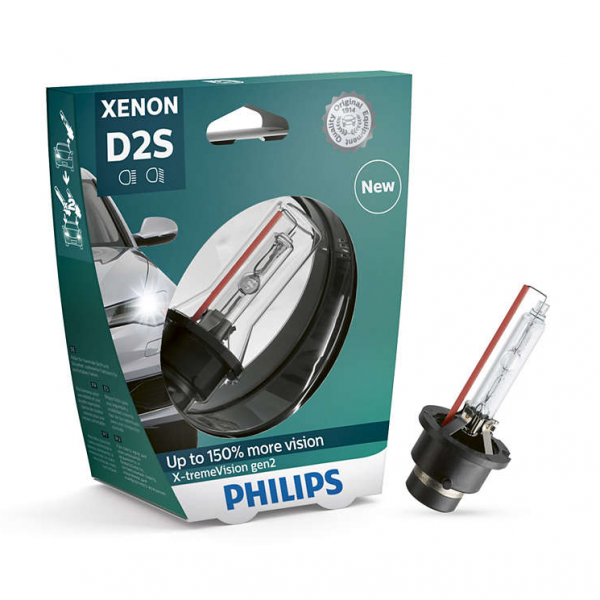 D2S 35W P32d-2 Xenon X-treme Vision +150% 1st. Philips