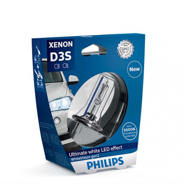 D3S 35W PK32d-5 White Vision 5000K Xenon 1st. Philips