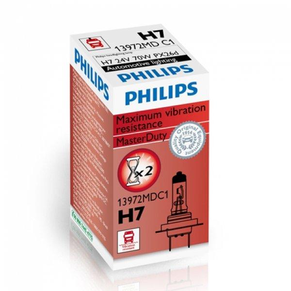 H7 24V 70W PX26d MasterDuty 1st. Philips