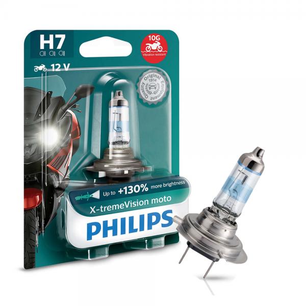 H7 12V 55W PX26d X-tremeVision Moto +130% 1st. Blister Philips
