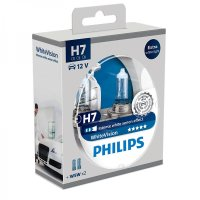H7 12V 55W PX26d WhiteVision 2st. + 2xW5W Philips