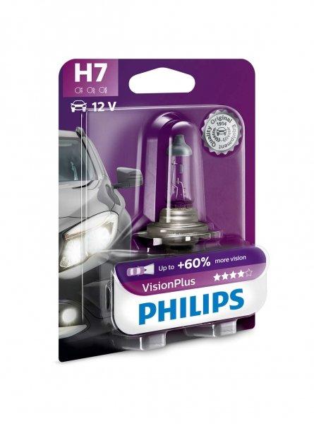 H7 12V 55W PX26d Vision Plus +60% 1st. Blister Philips