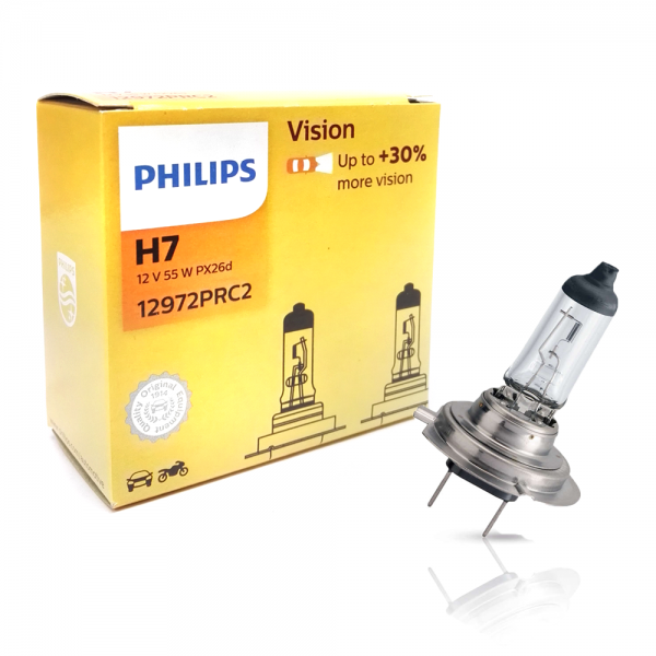 H7 12V 55W PX26d Vision +30% 2st. Philips