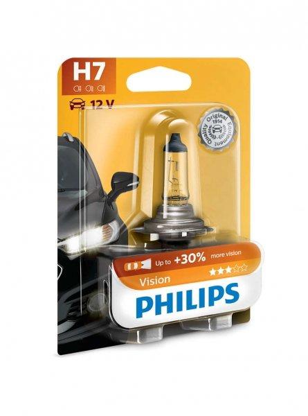H7 12V 55W PX26d Vision +30% 1st. Blister Philips