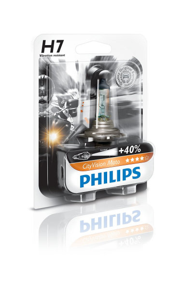 H7 12V 55W PX26d CityVision Moto +40% 1st. Blister Philips
