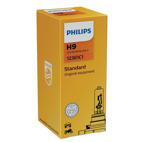H9 12V 65W PGJ19-5 Vision Original equipment 1st. Philips