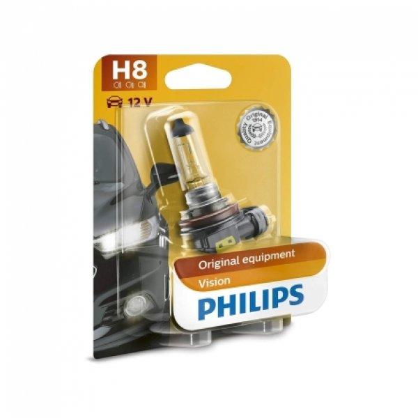 H8 12V 35W PGJ19-1 Vision 1st. Blister Philips
