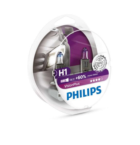 H1 12V 55W P14,5s Vision Plus +60% 2st. Philips