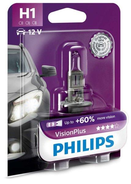 H1 12V 55W P14,5s Vision Plus +60% 1st. Blister Philips