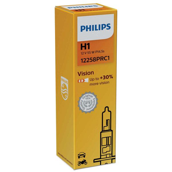 H1 12V 55W P14,5s (Premium) Vision +30% 1st. Philips