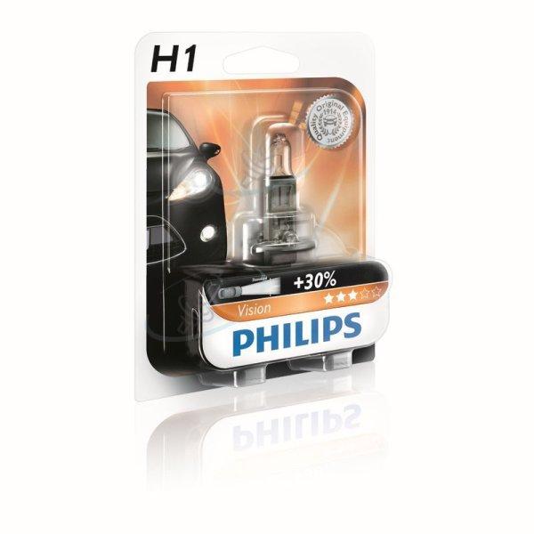 H1 12V 55W  P14,5s Vision +30% 1st. Blister Philips